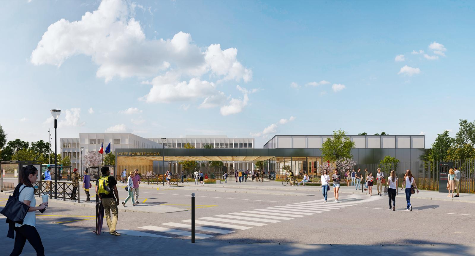 Lycée Evariste Galois à SARTROUVILLE (MO : RIF - Dietrich | Untertrifaller Architectes